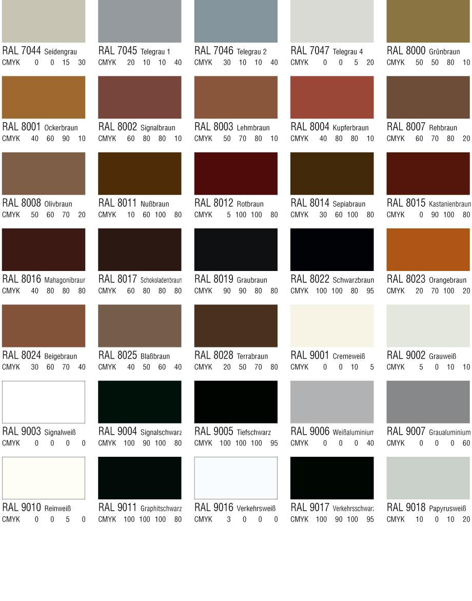 Braun, Weiß- und Schwarztöne