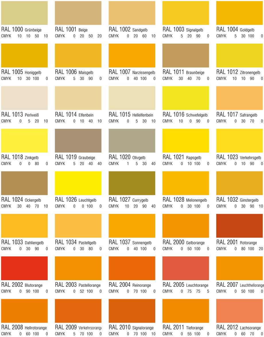 Gelb und Orangetöne