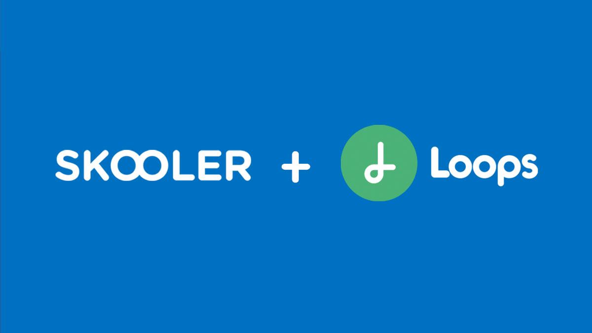 SKOOLER and Loops Education logos