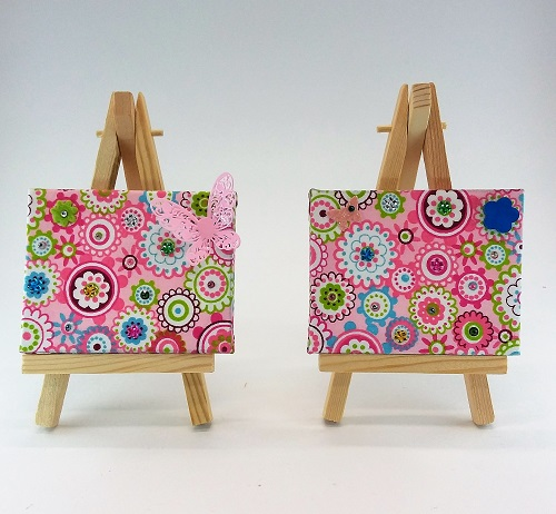 Mini Wall-art Fabric decorated set