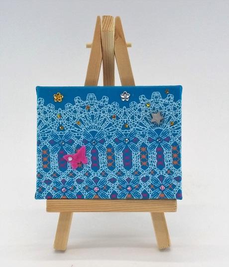 Mini Wall-art Fabric decorated - Blue bridge
