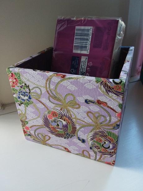 Storage / Organising Box - fabric covered chinese