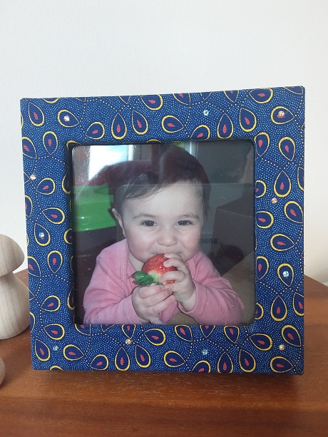 Double photo frame box - Royal Blue - Gold