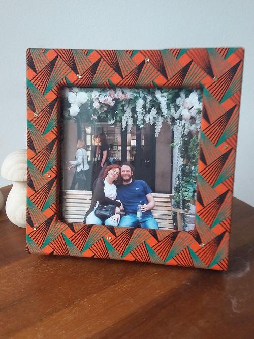 Double photo frame box - Orange and black