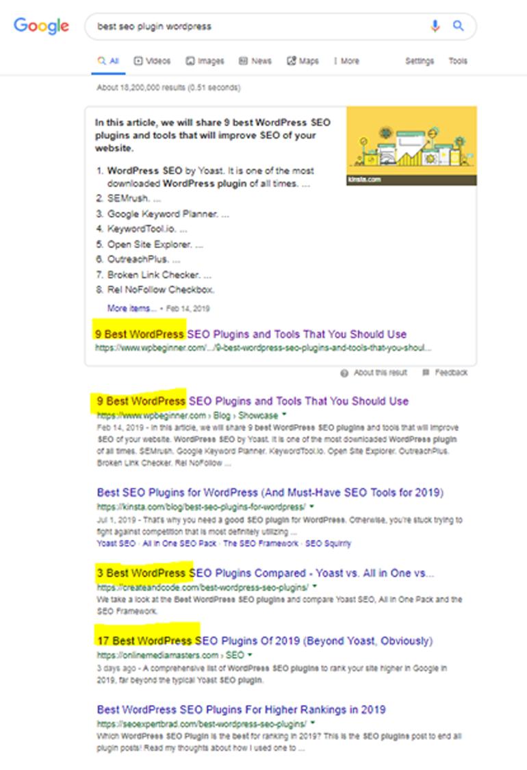 SEO Contents _Google Search results_Monash Digital Studio