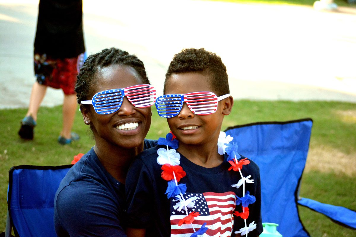 Kingstown residents at Fourth of July celebration