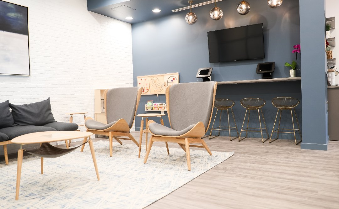 Waiting area at Kindstowne Dental Specialists