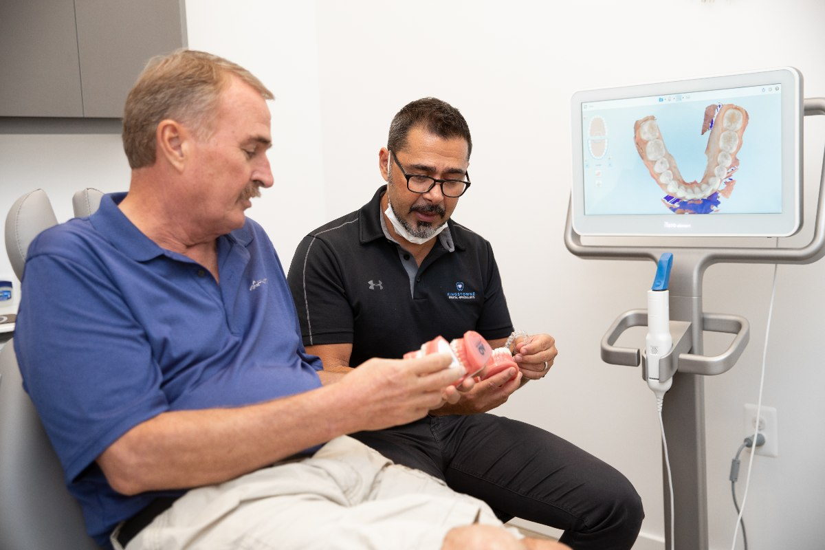 Kingstowne orthodontist Dr. Bob Marzban with patient