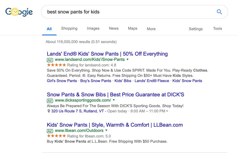 Google Ads work well for high-intent searches.