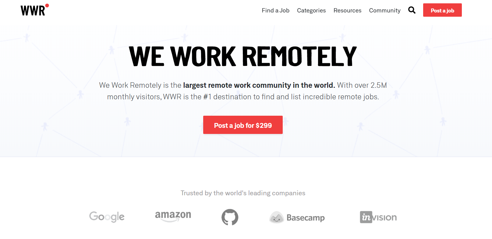 Hire remote marketers from We Work Remotely