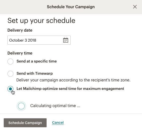 Send Time Optimization from Mailchimp