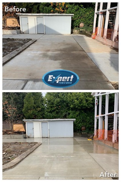 concrete cleaning by expert power wash