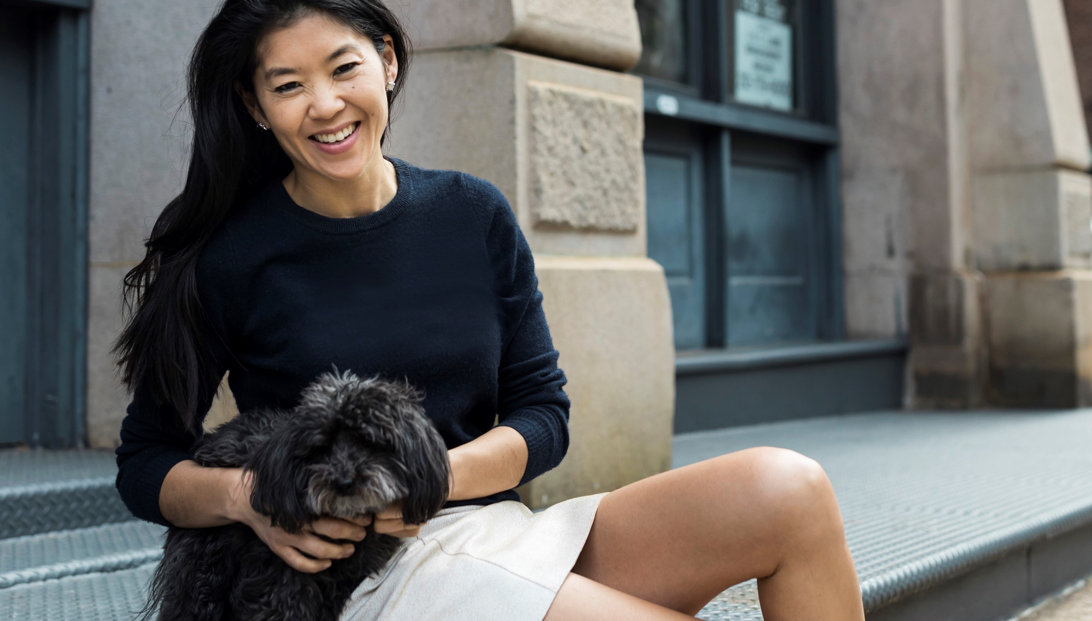 Grace Lee and her dog