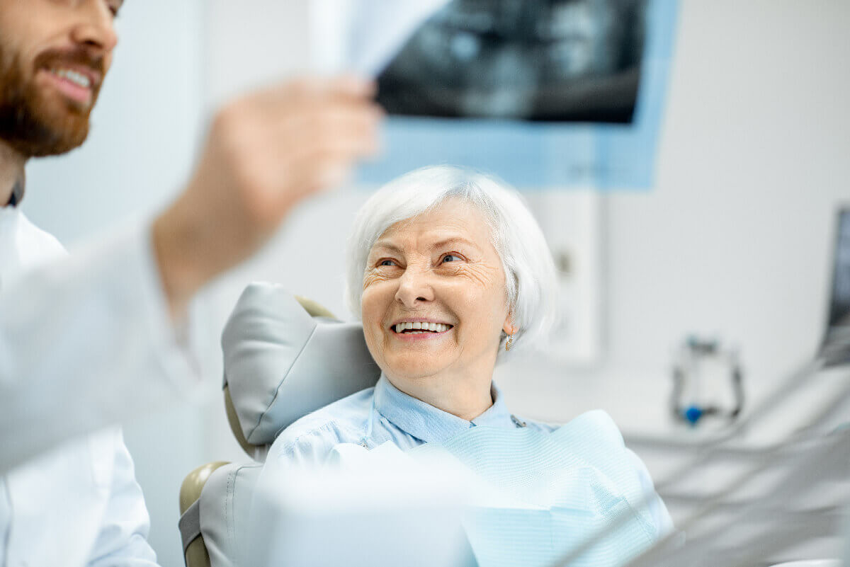 Dental patient during consult