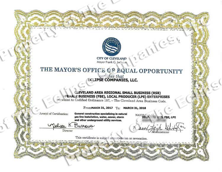 Certification Equal Opportunity Cleveland