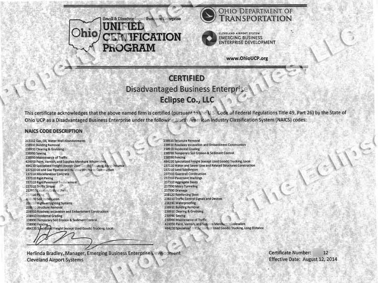 Qualifications | Eclipse Company, LLC