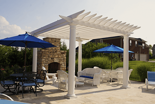 Roy Vaden Pools - White Pergola