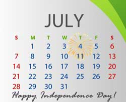 July - Happy Independence Day!