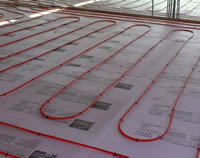 Install an in-floor heating system from Kruchtens