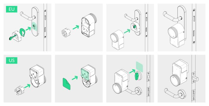 installation steps of keymitt smart lock