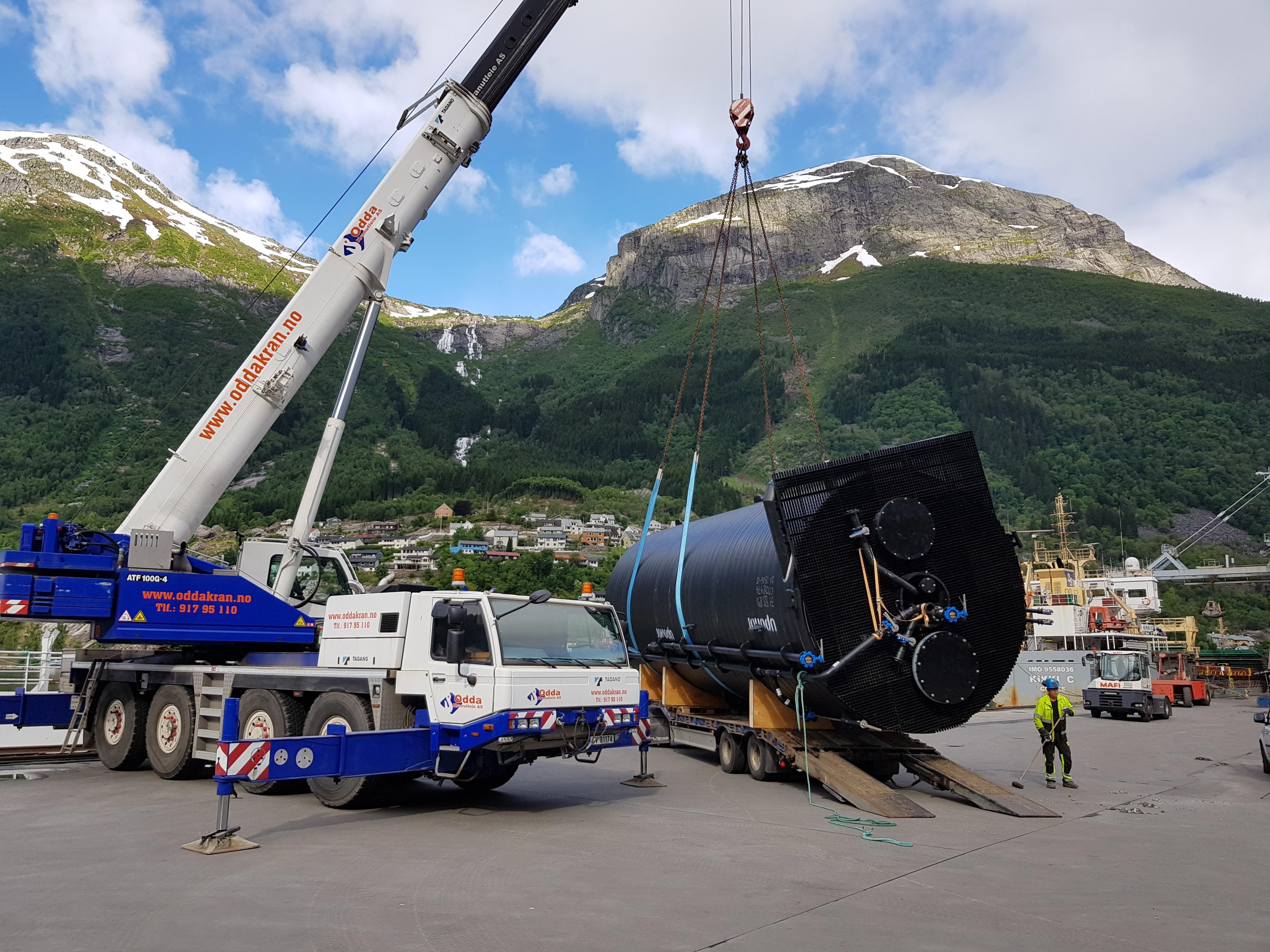 Slamtank ferdig produsert, klar for transport til Aqua Pro AS