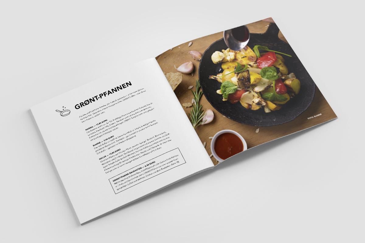 Speisekarte mit eigenen Foodfotos