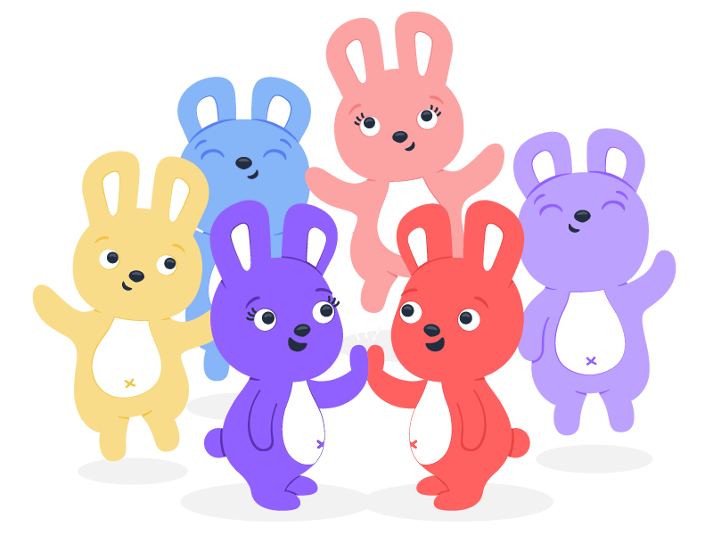 Hoppy and office coworkers jumping because their manager improved company culture