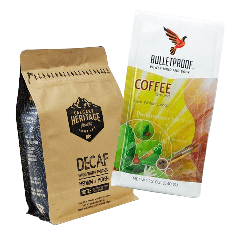 Hoppier's office coffee delivery service includes Bulletproof decaf coffee and Calgary heritage decaf coffee