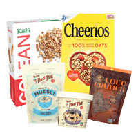 hoppier delivers office breakfast items including cereal, yogurt, bagels, milk and cream cheese