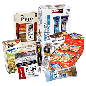 hoppier delivers high protein office snacks including beef jerky, meat sticks and protein bars