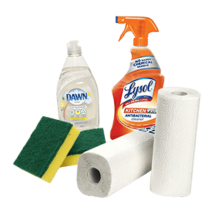order office supplies with hoppier. Order paper towels and cleaning supplies online.