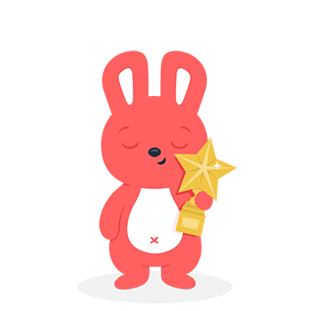 Hoppy holding a trophy to show how having office snacks can help with employee appreciation