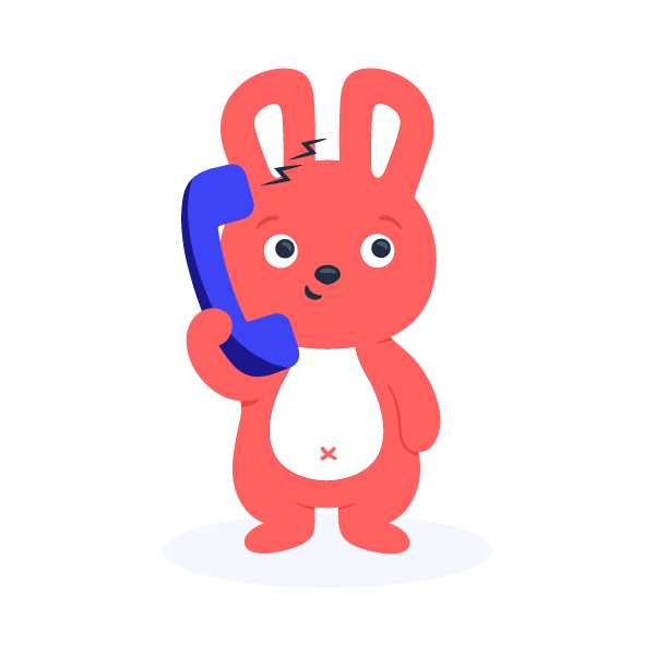 Hoppy on the phone to learn about office snack delivery service needed