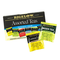 Hoppier's office coffee service includes Biglow assorted tea