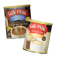 Our office coffee suppliers include specialty drinks like Caffee D'Vita cappuccino