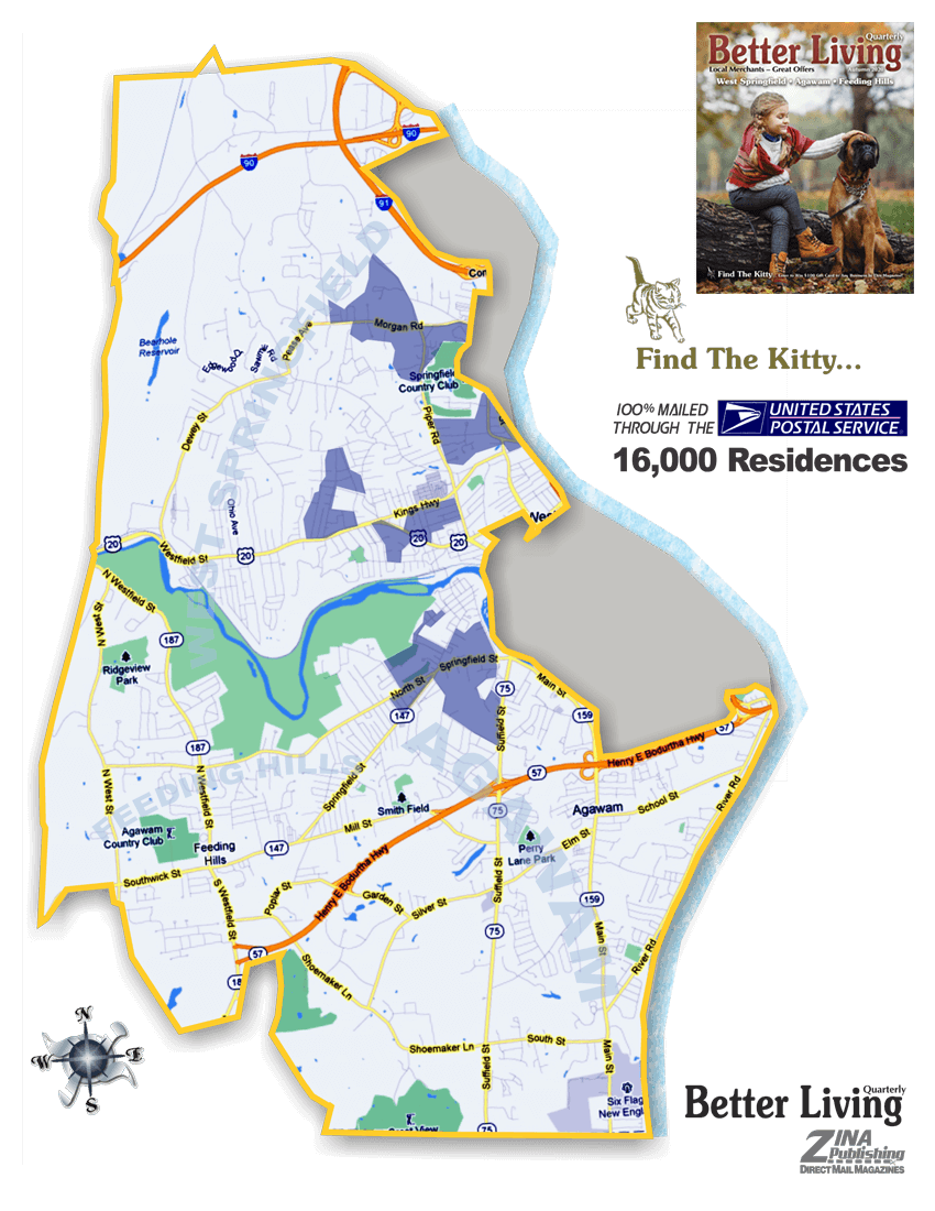 Map of West Springfield Agawam coverage area