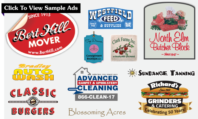 Logos from various advertisers