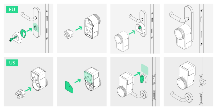 smart lock installation steps