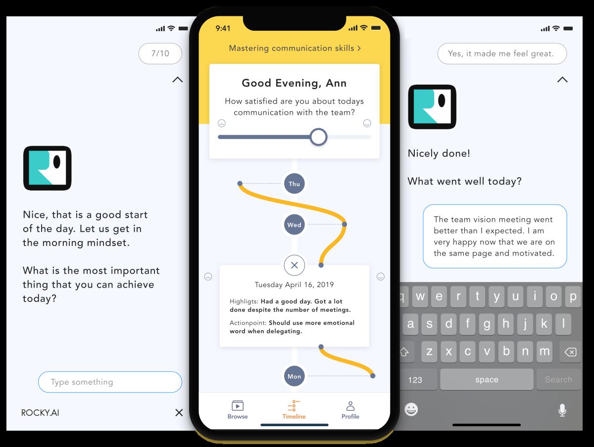 Success habit chatbot ROCKY.AI
