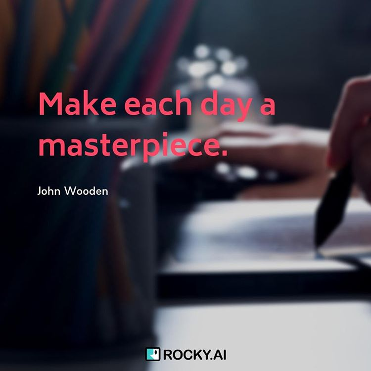 Make each day a masterpiece. #masterpiece ⁠