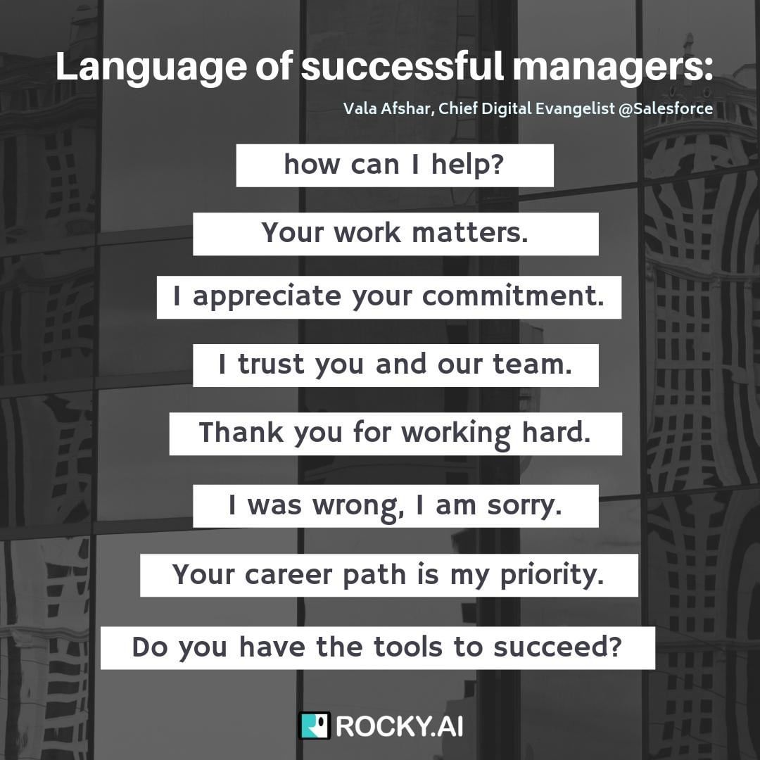 How would you feel if you hear such language from your manager or a leader? Treat others as you would want to be treated.⁠