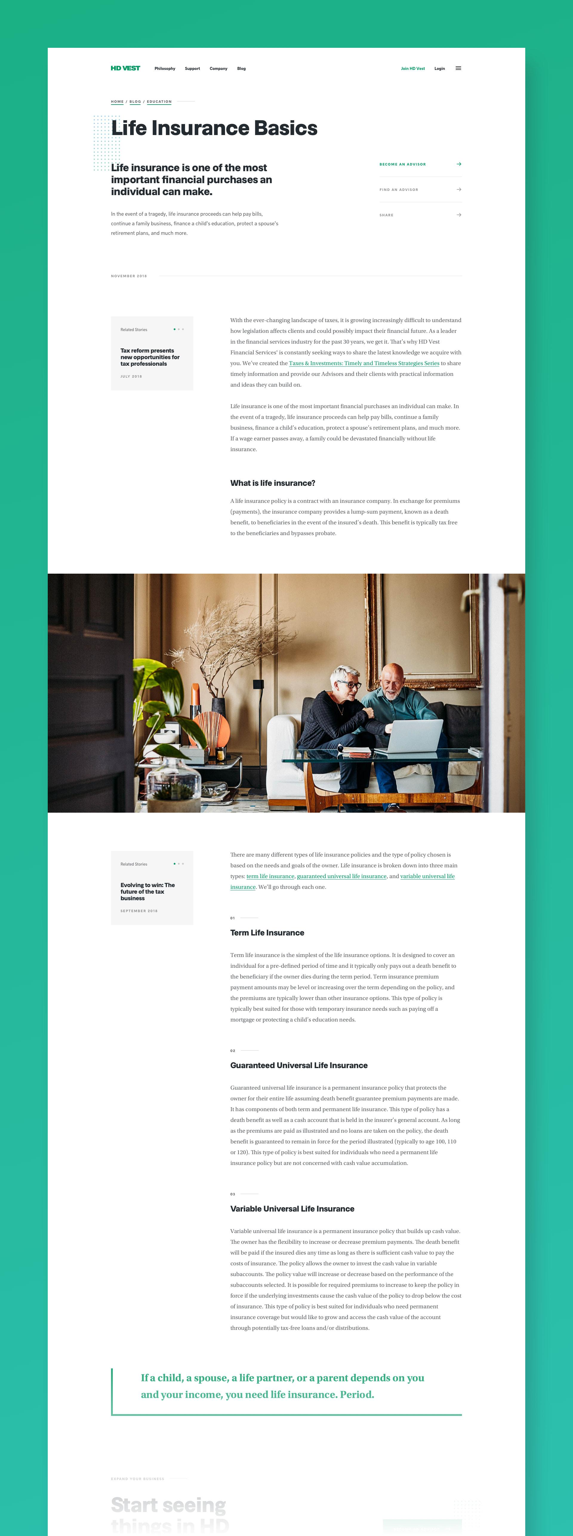 HD Vest Blog Page