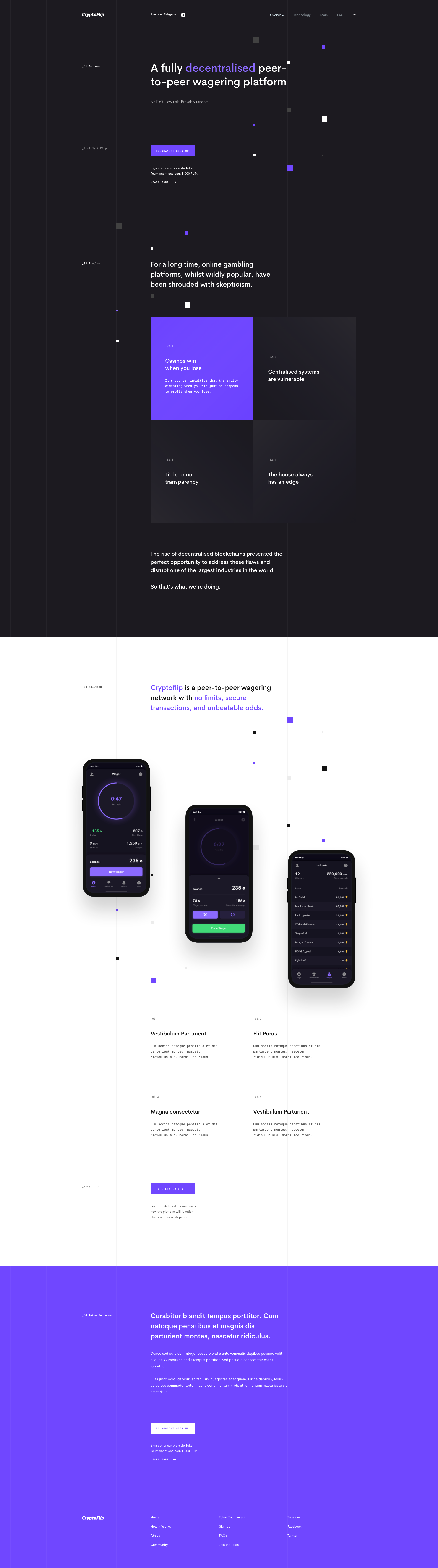 CryptoFlip Website Concept