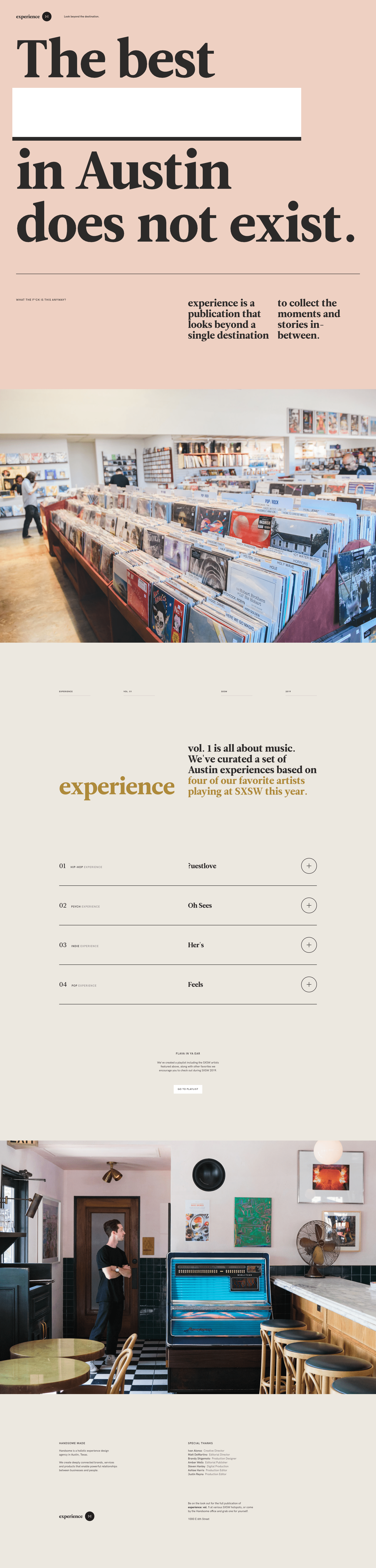 Experience Publication Website