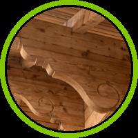 Aérogommage du bois