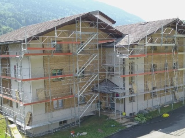 Chantier gommage dans le Valais