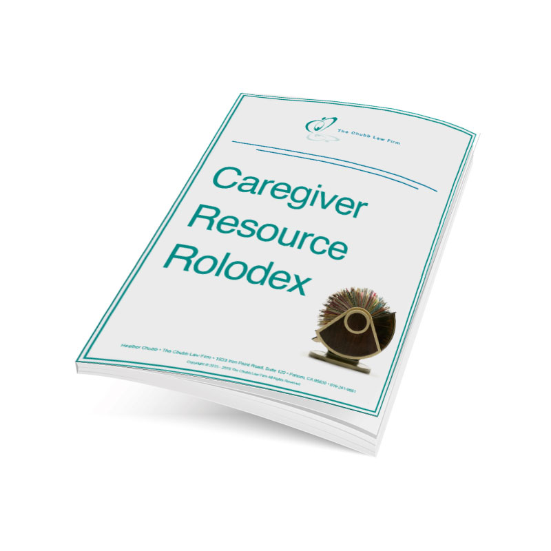 Caregiver Resource Rolodex
