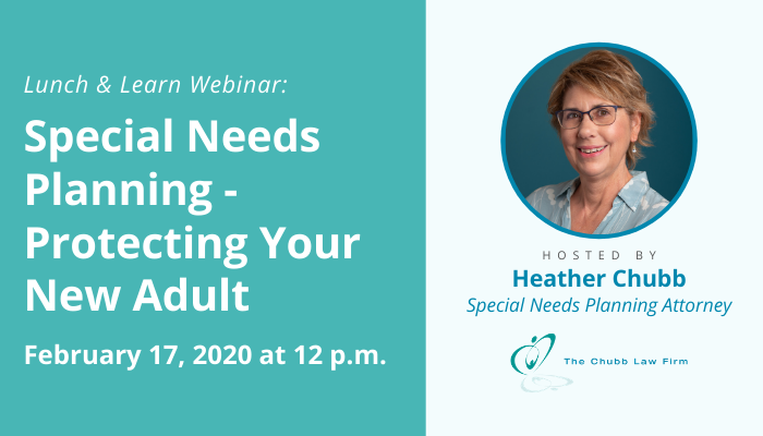 Lunch and Learn: Special Needs Planning - Protecting Your New Adult