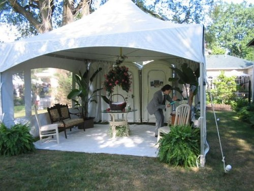 How to Class Up a Porta Potty for Your Outdoor Wedding