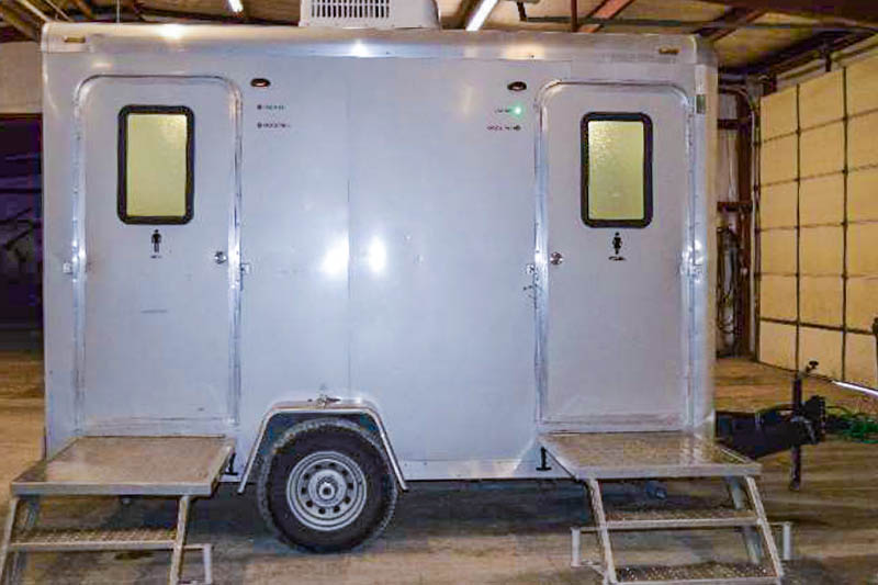 VIP restrroom trailer with two stalls